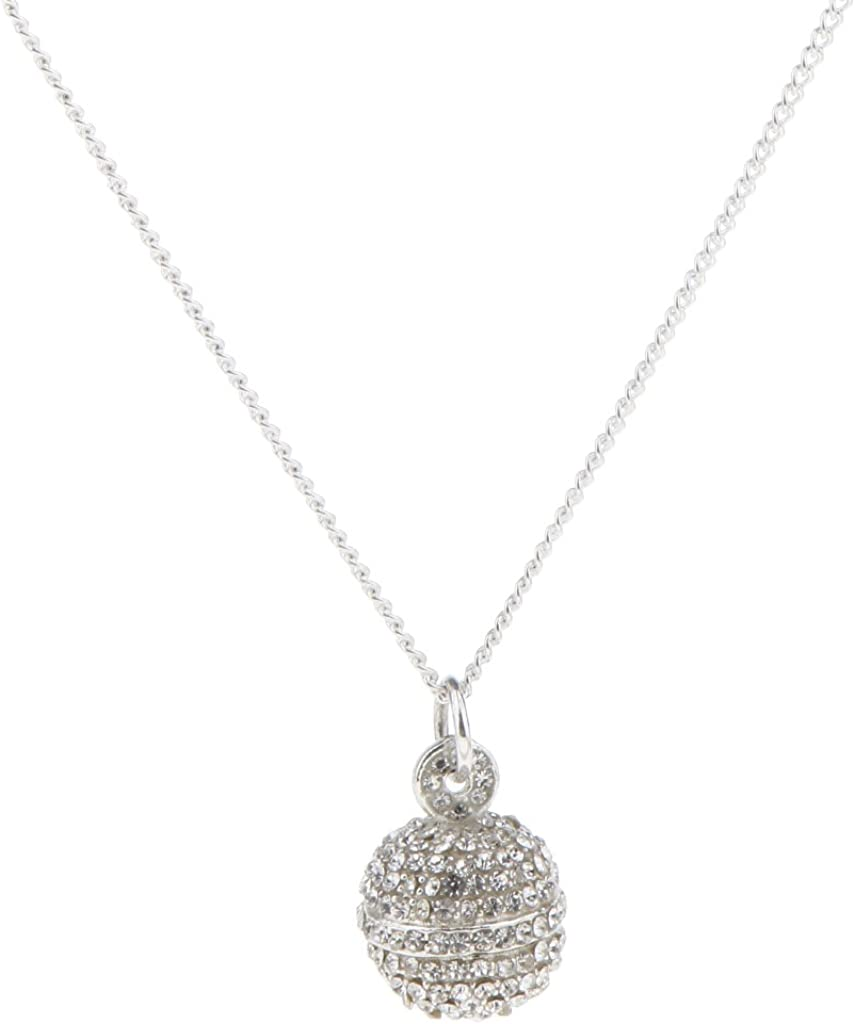 Bonarty Luxury Full Rhinestone Bell Shape Ball Pendant Necklace Disco 2cm//1.6cm Ball