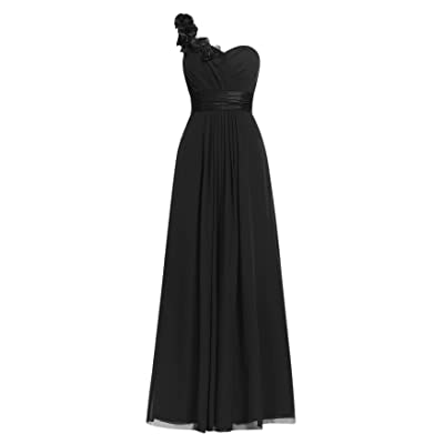 AlfaBridal Women Maxi Chiffon One Should Bridesmaid Evening Dresses for Wedding at Women's Clothing store