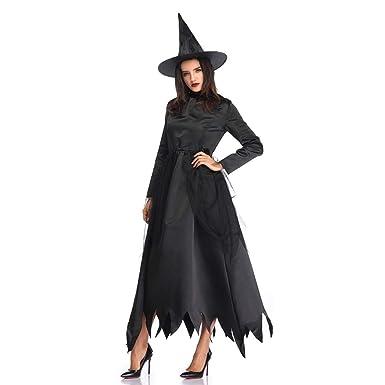 Disfraz de Bruja para Adulto Vestido con Sombrero de Bruja Disfraz ...