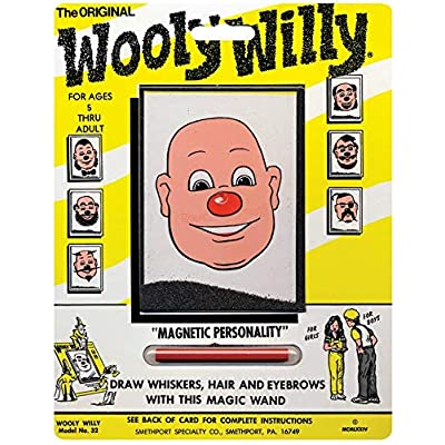 Playmonster Wooly Willy Bundle with Original, Sock Monkey, Hair Do Harriet, and Wanted Poster (4 Items): Toys & Games