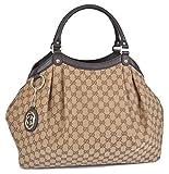 Gucci Women's Large Brown Canvas GG Guccissima Sukey Hobo Handbag