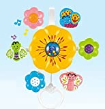 Emob Flower Shaped Musical Crib Rotating Hanging Toy For Infants with Incredible Finishing