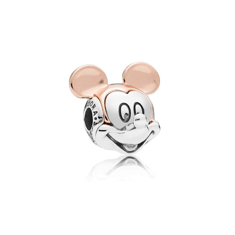 d2985d9a5 Amazon.com: Pandora Disney Two Tone Mickey Portrait Charm 787503: Watches