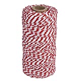 Mintbon Red Cotton Kitchen Twine,Wrap Gift Cotton Rope Ribbon,100m Cotton Bakers Twine Perfect For Baking, Butchers, Crafts and Christmas Gift Wrapping