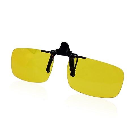 QHGstore Conducci¨®n polarizada Clip-On flip-up lente gafas de sol