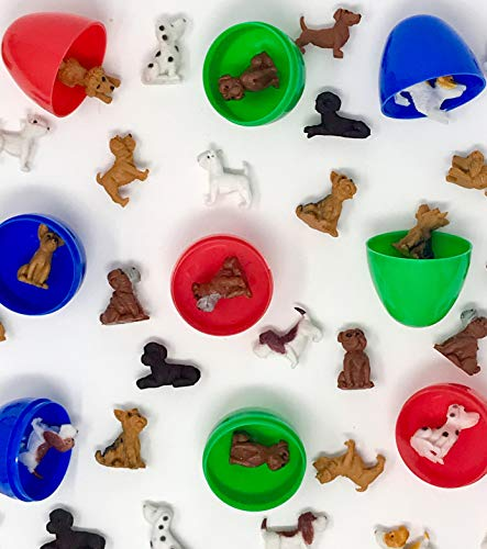 50 Mini Dogs & 25 Easter Eggs - Basset Lab Yorkie Dalmatians Poodle Bull Terrier Jack Russell Boxer Bulldog Chihuahua Little -