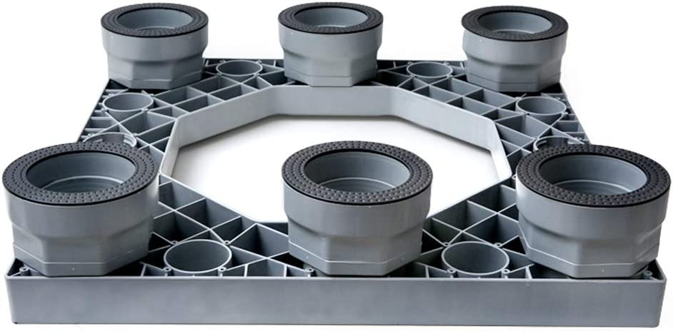 Zhenxinshiyi ユニバーサル洗濯機ベース固定防振可動ユニバーサルホイールパッドハイブラケット、統合パネル隠しモバイル高さはより安定 (Color : Gray B, Size : No wheels)