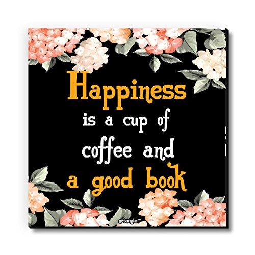 Seven Rays Happiness is Coffee and A Good Book Fridge Magnet Dimensions   3 X 3 Inch