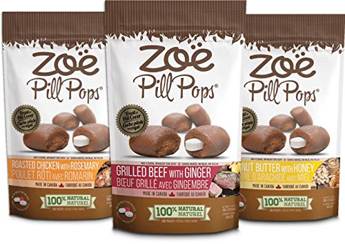 Zoe Assorted Pill Pops Treat for Dogs (Pack of 3), One Size