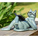SPI Home 33650 Literary Cat Garden Sculpture For Sale