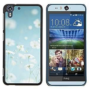 Stuss Case / Funda Carcasa protectora - Fleurs blanc heureux chaud - HTC Desire Eye ( M910x )