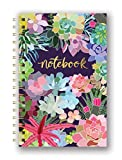 Studio Oh! Hardcover Medium Spiral Notebook Available in 9 Designs, Mia Charro Succulent Paradise