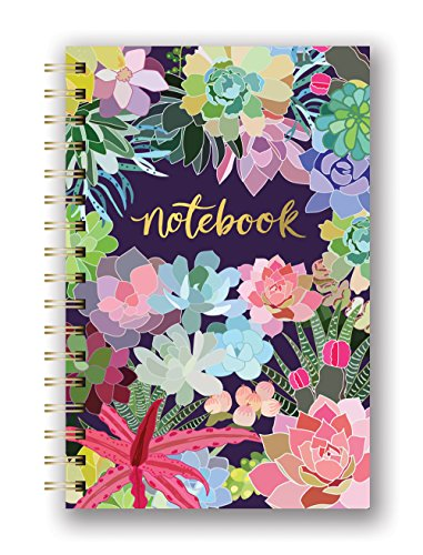 Studio Oh! SJ003 Hardcover Spiral Notebook Available in 9 Different Designs, Mia Charro Succulent (Decorative Notebooks)