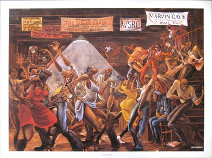 Sugar Shack print by Ernie Barnes