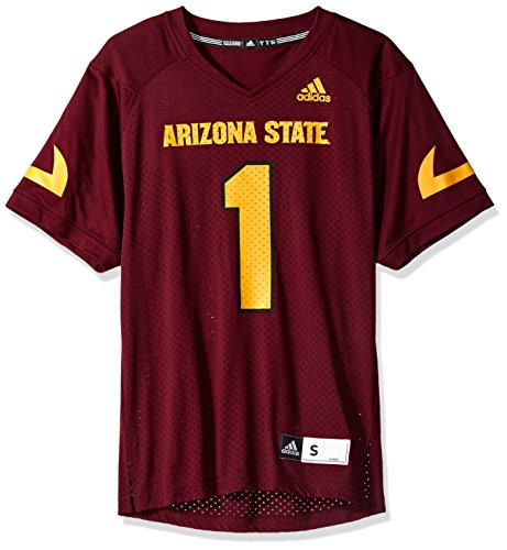 (adidas NCAA Arizona State Sun Devils Adult Men NCAA Replica Football Jersey, X-Large, Maroon)