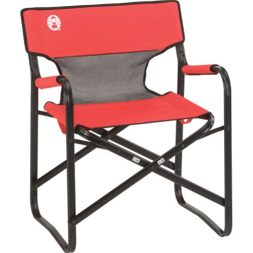 Coleman Steel Deck Chair with Mesh Back Panel by Coleman