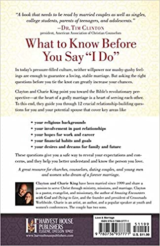 12 Questions to Ask Before You Marry: Clayton King, Sharie King ...