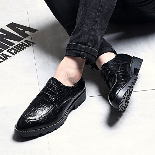 Sport en Up de Chaussures de Cuir Chaussures Mocassins Crocodile la Lace Oxford pour Business Cuir en Black pour en à Hommes Peau Classic Hommes Low Cheville 0XwXHr7Rqx