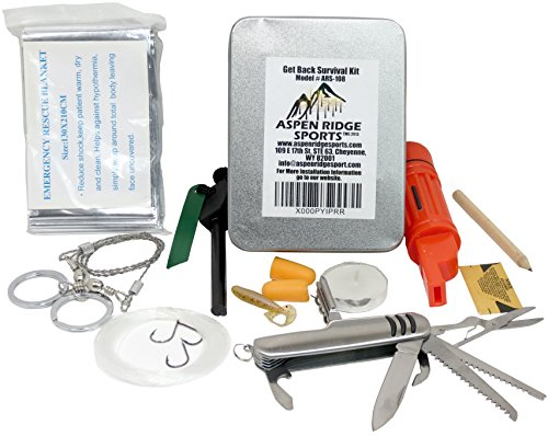 Aspen Ridge Sports Best Survival Kit for Travel Camping with Mylar Emergency Blanket (Zombie Survival Can compare prices)
