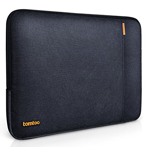 Tomtoc 360° Protective Laptop Sleeve for 13 - 13.3 inch MacBook Air | MacBook Pro Retina Late 2012 - Early 2016 | 12.9 Inch iPad Pro 2017, Shockproof, Spill-Resistant, Black Blue