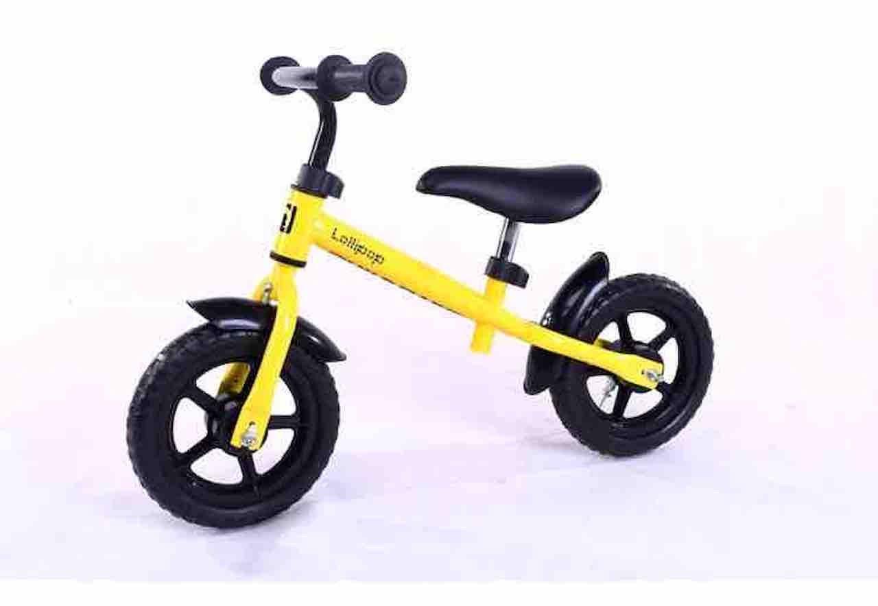 12inch子供バランス自転車、カーボンプラスチックホイール、スチールフレーム、レッド、ブルー、イエロー、ピンク、グリーン B07CVLJWZ7イエロー