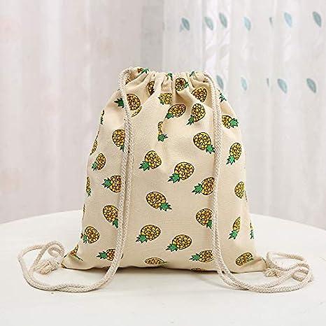 QTBWen - Bolsa de hombro de lona de algodón puro con estampado de ...