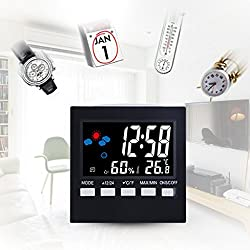 LtrottedJ Humidity Meters MultiFunction Calendar LED Clock With Backlight Temperature, And Humidity Display