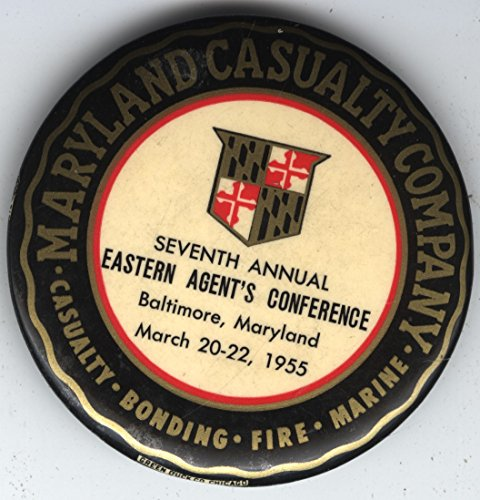 - Maryland Casualty Insurance Co. Advertising Souvenir Paperweight/Mirror