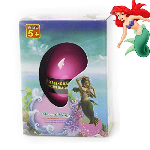 Anditoy Mermaid Hatching Eggs Growing Eggs Easter Eggs with Mini Mermaid Inside for Kids Gifts Toys