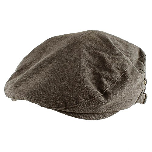 Morehats Canvas Newsboy Cap Gatsby Golf Hat - Charcoal (Round Golf Hat)