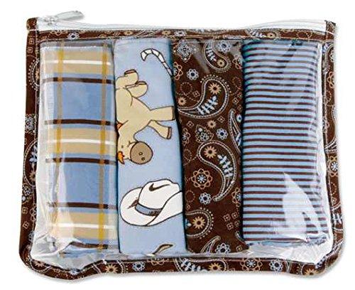 Price comparison product image Trend Lab Gift Set - Cowboy Zipper Pouch And 4 Burp Cloths