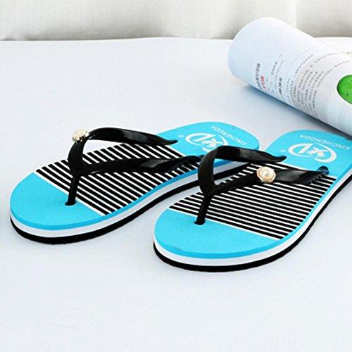 Para De Verano A MujerQinmm Zapatos Baño Chanclas Rayas doeCBrx