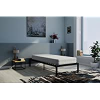 Signature Sleep 6110169SET Contour 8 Coil Mattress & Platform Black Metal Bed Set, Twin