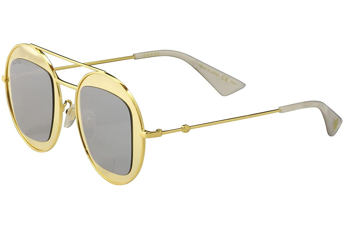 d48778716ce Amazon.com  Sunglasses Gucci GG 0105 S- 003 GOLD   SILVER  Clothing
