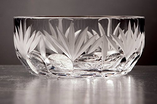 GAC 4 Inch Mouth Blown Crystal Bowl for Candy, Nuts, Condiments