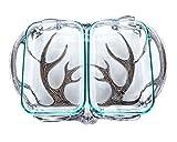 Arthur Court Designs Aluminum Antler Pattern Pyrex Casserole Dish Holder 18'' 2qt