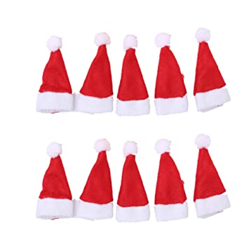 verlike 10pcs mini christmas hat lollipop cap cover xmas party decorations
