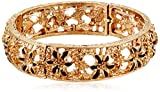 Best 1928 Jewelry Bracelets - 1928 Jewelry Gold-Tone Black Enamel Flower Stretch Bracelet Review