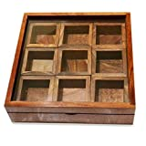 Craftgasmic Masala Box /Dabba/Lock Spice Rack Container, Utility Box / Hand Crafted Spice Box Gift your Valentine's on Special Day / Christmas by Craftgasmic