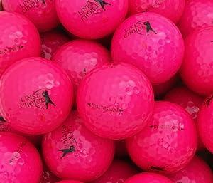 Links Choice Farbige Golfbälle, 12Stück Rosa rose