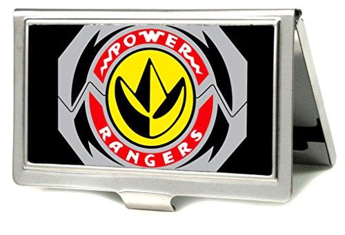 (Buckle-Down Men's Business Card Holder-Power Rangers, Multicolor, 3.7