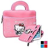 Phenix-Color Hello Kitty Little Bear Bag Sleeve Case for Ipad 2 3 4 / iPad Air / iPad Air2 Google Nexus Hp Touchpad Motorola Xoom, Smasung Galaxy Tab 10.1V, and any 10.1inch or less Tablet (Hotpink)