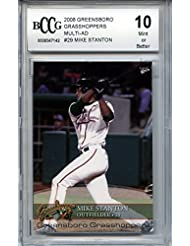 Mike Giancarlo Stanton 2008 Greensboro Grasshoppers Multi-Ad 1st minor league rookie Beckett graded BCCG 10 MINT