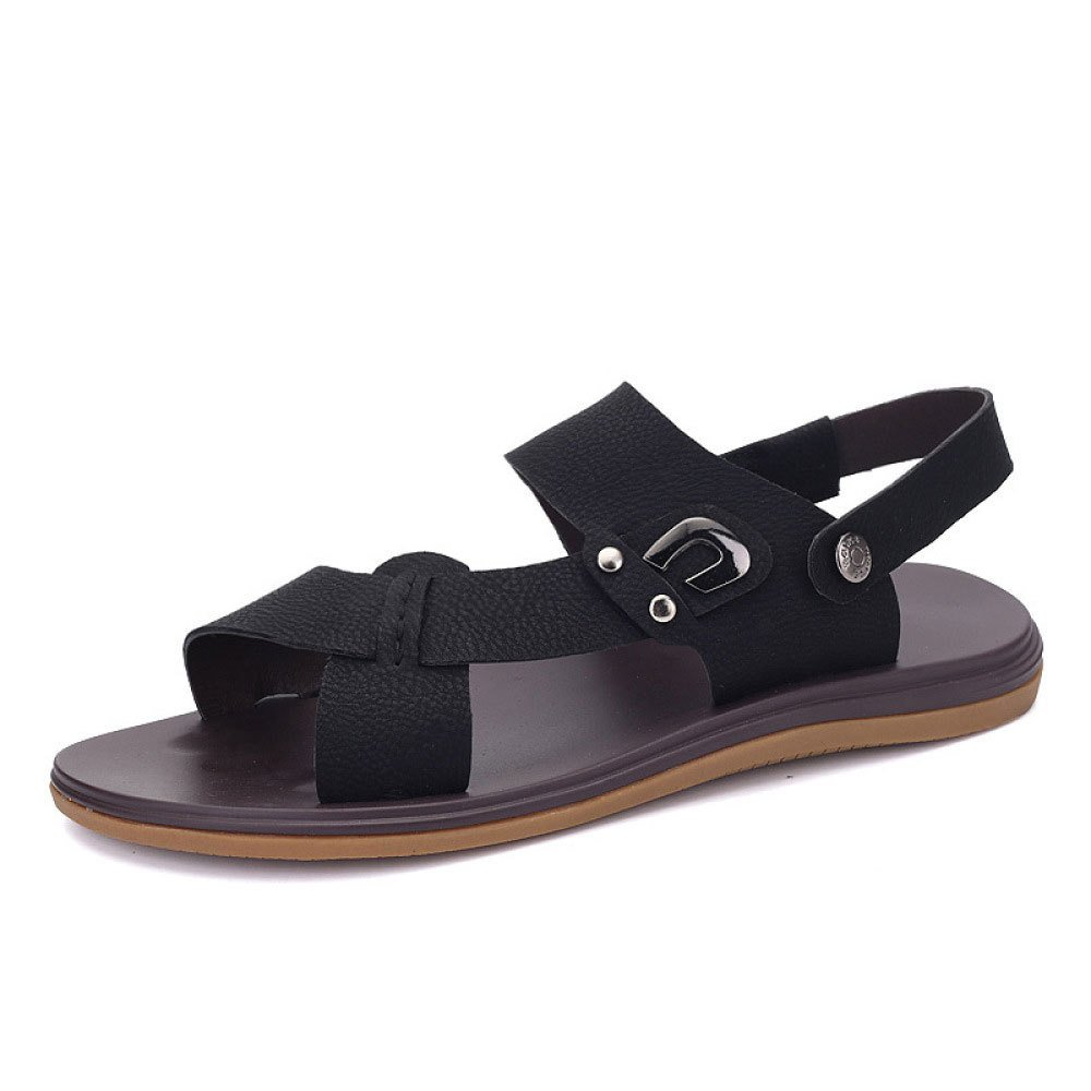 Zapatillas Cómodas Ocasionales De La Moda del Verano Sandalias Salvajes 44 EU|Black