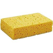"Boardwalk PAD CS2 BWKCS2 Medium Cellulose Sponge, 3-2/3"" x 6-2/25"", 1-11/20"" Thick, Yellow (Pack of 24)"