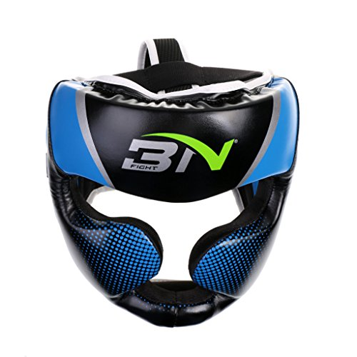 Jili Online Boxing Helmet Training Head Guard Kick Protector Full Face Protector Adult - Blue