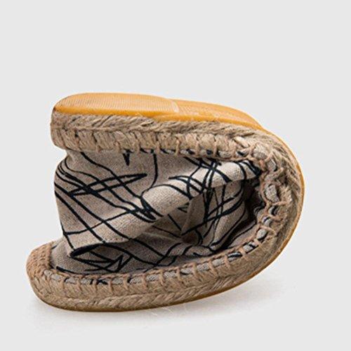 Graffiti chaussures de toile chaussures de chanvre chaussures plates chaussures paresseuses doodle blue 38