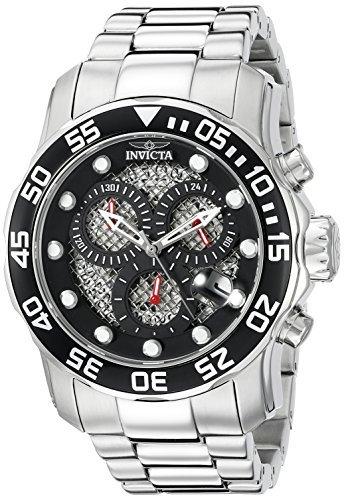 Invicta Men's 19836SYB Pro Diver Analog Display Swiss Quartz Silver-Tone Watch
