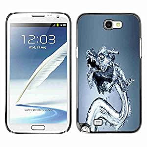 Planetar® ( Water Dragon ) Samsung Galaxy Note 2 II / N7100 Fundas Cover Cubre Hard Case Cover