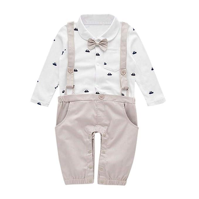 QinMM Mono Lindo de Gentleman del bebé Infantil niño Peleles Body Romper Mameluco de algodón: Amazon.es: Ropa y accesorios